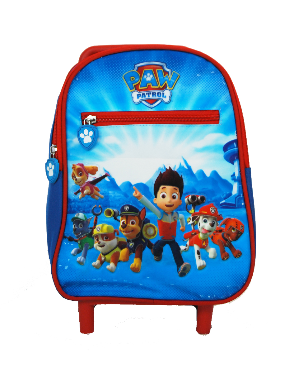 Home Kids Trolley Bags Paw Patrol Backpack Bts Nursery With Front Zipper Poket 31cm In D 277