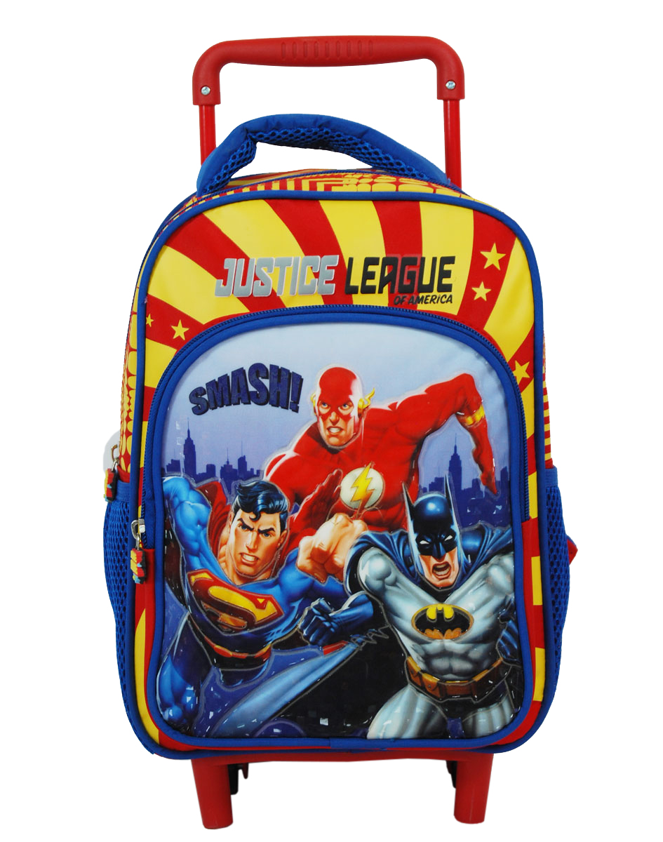 Home Kids Trolley Bags Nursery Backpack Justice League D 578